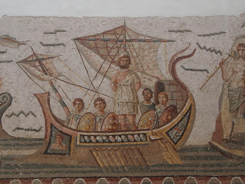 découverte mosaïque tunisie